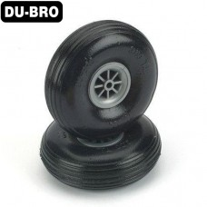 "Dubro 250T Low Bounce Treaded Wheels 2-1//2/"" 2"