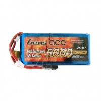 Gens ace 5000mAh 7.4V RX/TX 2S1P Lipo Battery Pack