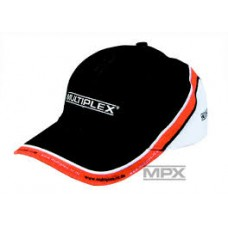 Multiplex Peaked caps MPX black/white/orange