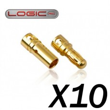 3.5mm Gold Connector Set 10prs