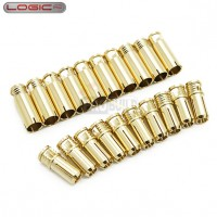 4.0mm Gold Connector Set 10prs