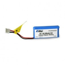 E-Flite 200mAh 2S 7.4volt 20C LiPo 26AWG (Micro Stryker)