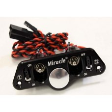 Miracle Twin Power Switch With Fuel Dot - Black Color