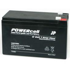 JP 12V-7amp Powercell Gel Battery