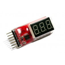 X-Tech Li-Po Battery Voltage Indicator Checker Tester 2s - 6s
