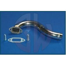 3W Exhaust Manifold 3W 42i / 50i / 55i, S- Shape, Stainless Steel