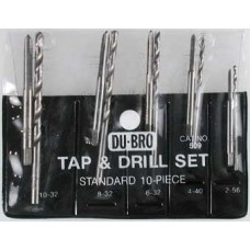 DU-BRO 10 Piece Tap & Drill Set (USA Imperial)